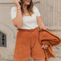 衣服 女士 短裤&百慕大短裤 Céleste CHENE 铁锈色
