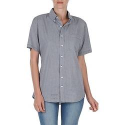 衣服 女士 短袖衬衫 American Apparel RSACP401S 白色 / 蓝色