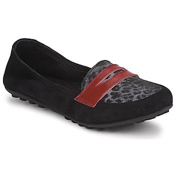 鞋子 女孩 皮便鞋 Mod'8 CELEMOC JUNIOR 黑色 / Leopard / 红色