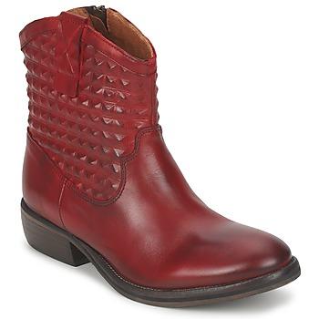 鞋子 女士 短筒靴 Pastelle ELSA 波尔多红