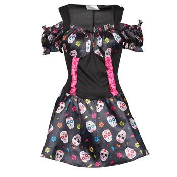 衣服 女士 角色扮演 Fun Costumes COSTUME ADULTE MRS DAY OF THE DEAD 多彩