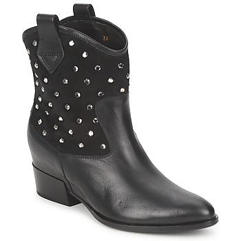 鞋子 女士 短筒靴 Alberto Gozzi GIANNA  velour-黑色