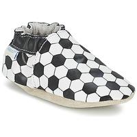 鞋子 男孩 儿童拖鞋 Robeez GOAL 黑色 / 白色