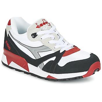 鞋子 球鞋基本款 Diadora 迪亚多纳 N9000  NYL 白色 / 黑色 / 红色