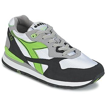 鞋子 球鞋基本款 Diadora 迪亚多纳 N-92 白色 / 黑色 / 绿色