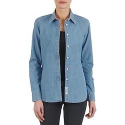 衣服 女士 衬衣/长袖衬衫 Kulte CHEMISE CIRCUIT 101826 BLEACH 蓝色
