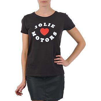 衣服 女士 短袖体恤 Kulte LOUISA JOLIEMOTOR 101954 NOIR 黑色