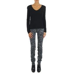 衣服 女士 紧身牛仔裤 Gas TASCHE SUMATRA HIGH BLE BLACK 灰色