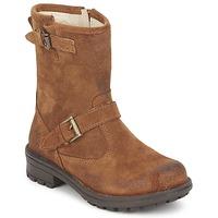 鞋子 女孩 短筒靴 Naturino 那都乐  红棕色