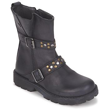 鞋子 女孩 短筒靴 Naturino 那都乐  黑色