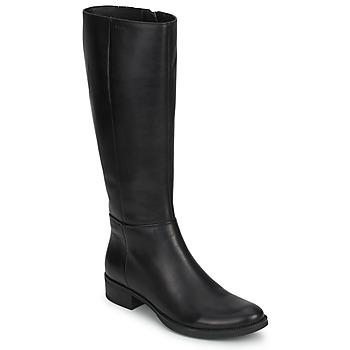 鞋子 女士 都市靴 Geox 健乐士 MENDI STIVALI BASIC 黑色