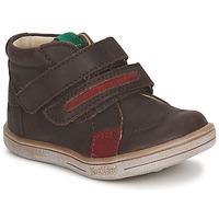鞋子 男孩 短筒靴 Kickers TAXI 棕色 / 红色