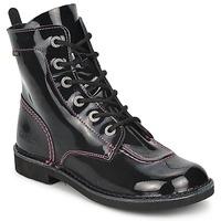 鞋子 女孩 短筒靴 Kickers KICK MOOD 黑色 / 漆皮