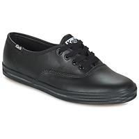鞋子 女士 球鞋基本款 Keds CHAMPION LEATHER 黑色