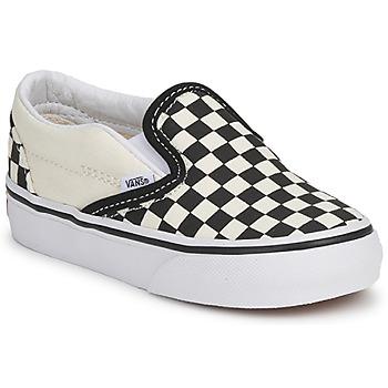 鞋子 儿童 平底鞋 Vans 范斯 CLASSIC SLIP ON KIDS 黑色 / 白色
