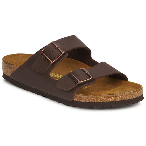 鞋子 男士 休闲凉拖/沙滩鞋 Birkenstock 勃肯 ARIZONA LARGE FIT 棕色 / Fonce
