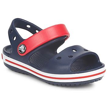 鞋子 儿童 凉鞋 crocs 卡骆驰 CROCBAND SANDAL 海蓝色 / 红色