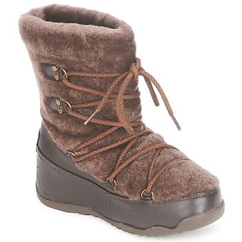 鞋子 女士 雪地靴 FitFlop SUPERBLIZZ 巧克力色