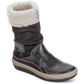 鞋子 女士 短筒靴 Snipe POLIGHT SUEDE DOUBLE FACE 巧克力色 / 棕色