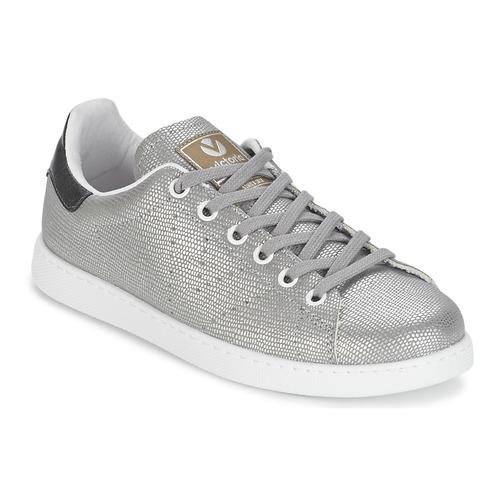 鞋子 女士 球鞋基本款 Victoria 维多利亚 DEPORTIVO BASKET TEJIDO FANT 银色