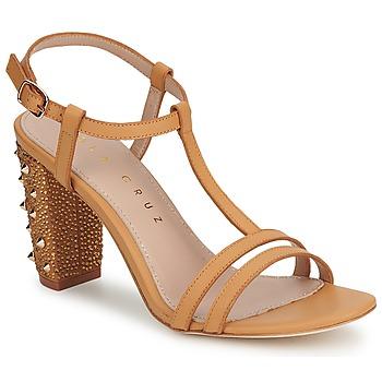 鞋子 女士 凉鞋 Lola Cruz STUDDED 米色 / 茶色