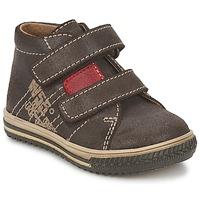 鞋子 男孩 高帮鞋 Citrouille et Compagnie ESCLO 棕色 / 红色