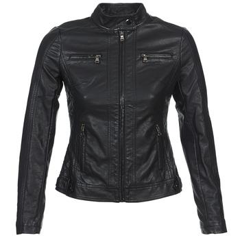 衣服 女士 皮夹克/ 人造皮革夹克 Moony Mood DUIR 黑色