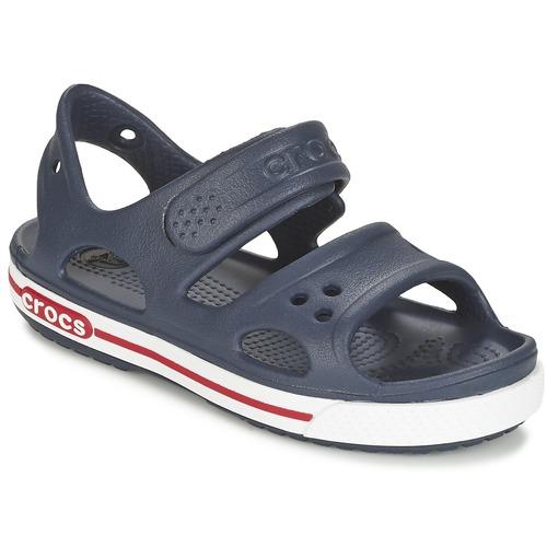 鞋子 男孩 凉鞋 crocs 卡骆驰 CROCBAND II SANDAL PS 海蓝色 / 白色