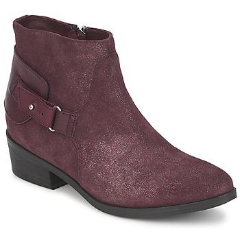 鞋子 女士 短筒靴 Janet&Janet PAUL BOR 波尔多红