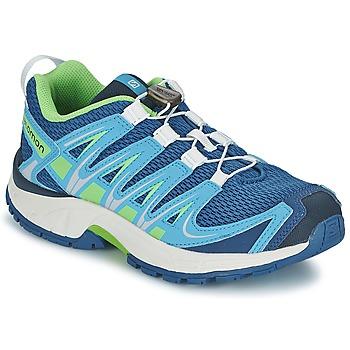 鞋子 儿童 多项运动 Salomon 萨洛蒙 XA PRO 3D JUNIOR 蓝色 / 绿色