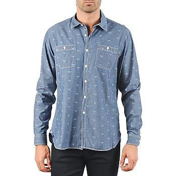 衣服 男士 长袖衬衫 Barbour LAWSON 蓝色