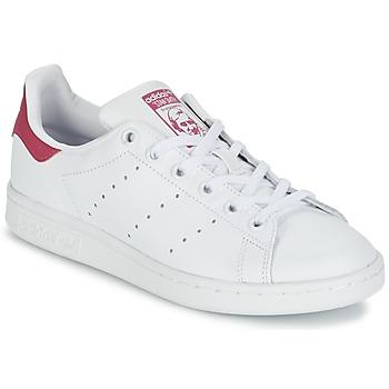 鞋子 女孩 球鞋基本款 阿迪达斯三叶草 STAN SMITH J 白色