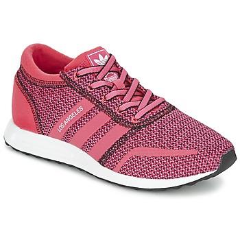 鞋子 女士 球鞋基本款 Adidas Originals 阿迪达斯三叶草 LOS ANGELES W 玫瑰色