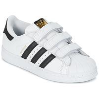 鞋子 儿童 球鞋基本款 Adidas Originals 阿迪达斯三叶草 SUPERSTAR FOUNDATIO 白色 / 黑色