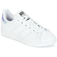 鞋子 女孩 球鞋基本款 Adidas Originals 阿迪达斯三叶草 STAN SMITH J 白色