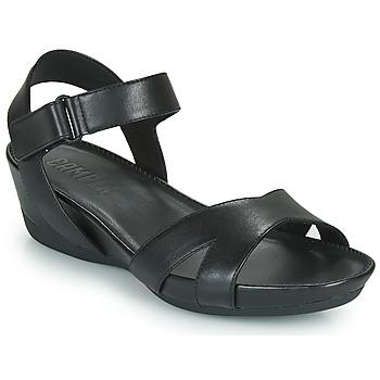 鞋子 女士 涼鞋 Camper 看步 MICRO 黑色