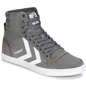 鞋子 高帮鞋 Hummel TEN STAR HIGH 灰色 / 白色