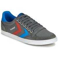 鞋子 男士 球鞋基本款 Hummel TEN STAR LOW CANVAS 灰色 / 蓝色 / 红色