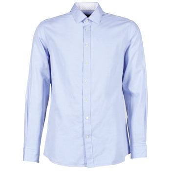 衣服 男士 长袖衬衫 Hackett SQUARE TEXT MUTLI 蓝色