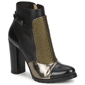 鞋子 女士 短靴 Etro 艾特罗 FEDRA 黑色 / 卡其色 / 银色