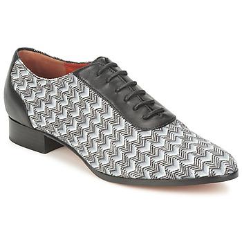 鞋子 女士 系带短筒靴 Missoni WM076 黑色 / 灰色