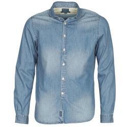 衣服 男士 长袖衬衫 Façonnable PLUSAMO 蓝色