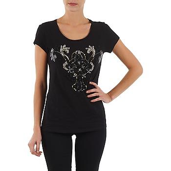 衣服 女士 短袖体恤 S.Oliver T-SHIRT MANCHES COUR 黑色