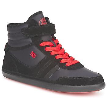 鞋子 女士 高帮鞋 Dorotennis MONTANTE STREET LACETS + VELCRO 黑色
