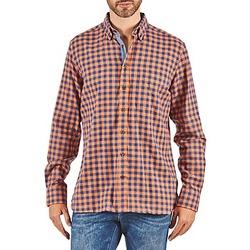 衣服 男士 长袖衬衫 Hackett SOFT BRIGHT CHECK 橙色 / 蓝色
