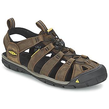 鞋子 男士 运动凉鞋 Keen CLEARWATER CNX LEATHER 棕色 / 黑色