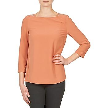 衣服 女士 长袖T恤 Color Block 3214723 珊瑚色