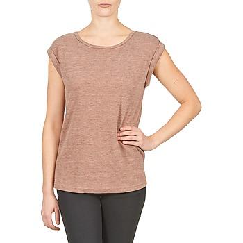衣服 女士 短袖体恤 Color Block 3203417 Vieux / 玫瑰色 / 中国红 / 灰色