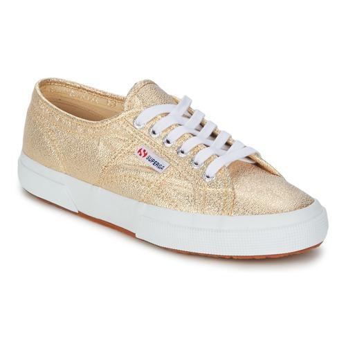 鞋子 女士 球鞋基本款 Superga 2751 LAMEW 金色