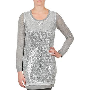 衣服 女士 长衬衫 La city PULL SEQUINS 灰色
